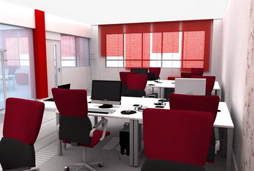 Oficinas 3d hcd una vez remodelada la oficina de la for Oficina virtual del cliente iberdrola