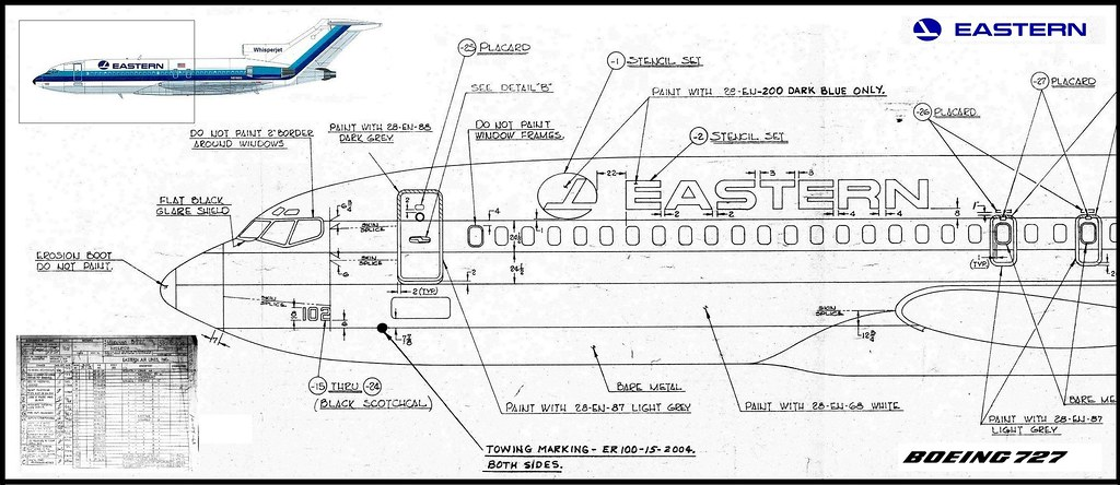 eastern air lines boeing 727 100