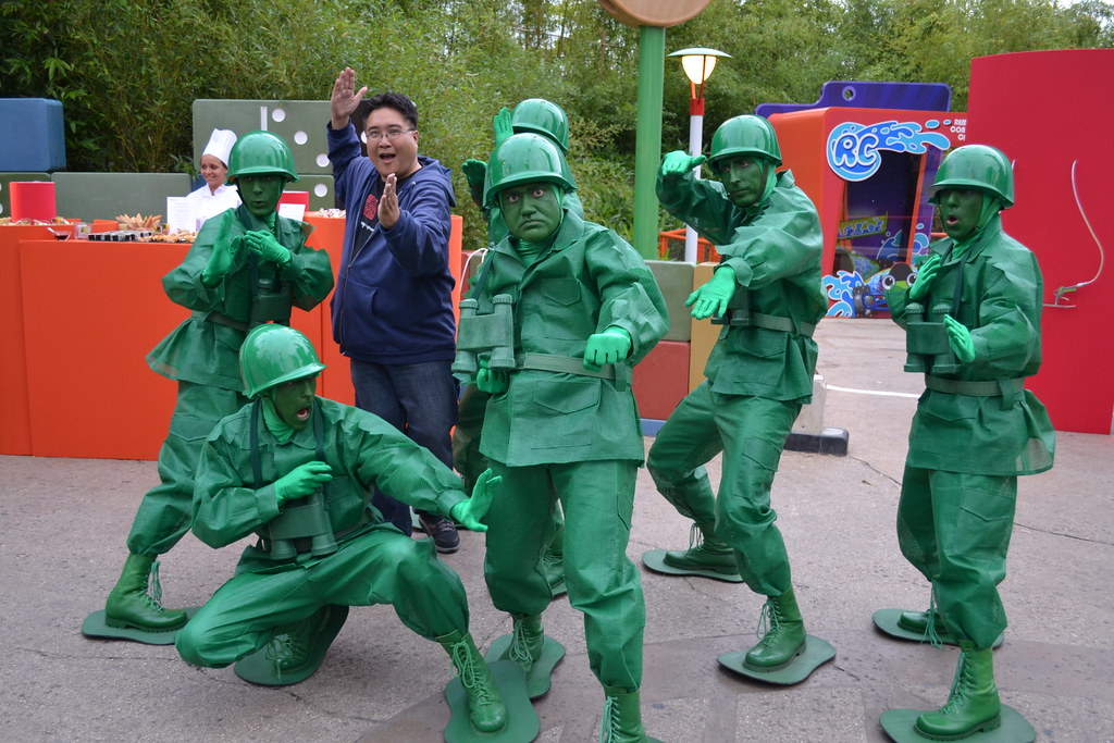 i train to be a green army man at disney s dine with the p
