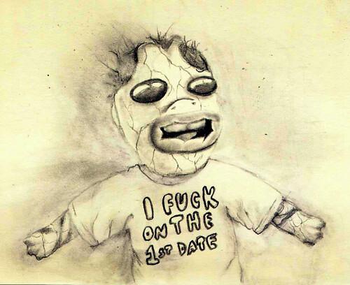 harlequin baby | Breakin' in mah new moleskine with Loco's ...