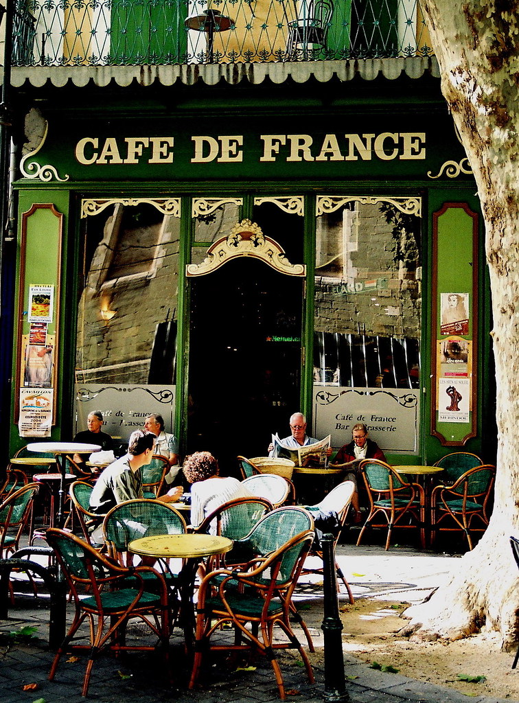 Cafe De France La Proven 231 A Francesa Daniel Ses 233 Flickr
