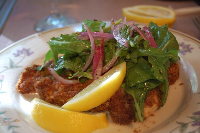 chicken milanese with arugula salad | I made this for dinner ...