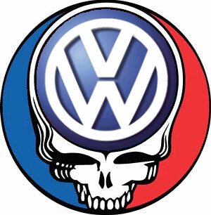Grateful Dead Vw Volkswagen Emblem Logo Steal Your Face
