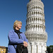 Mum in front of the Leaning Tower of Pisa, Italy '08