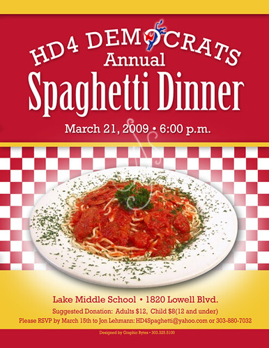 Hd Spaghetti Dinner Flyer Color  Johne  Flickr