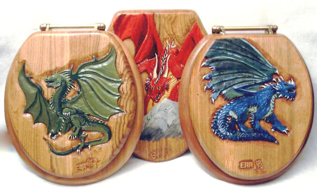 Dragon Carved Wood Toilet Seat See These And More At Www