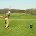 Father-in-law golf swing