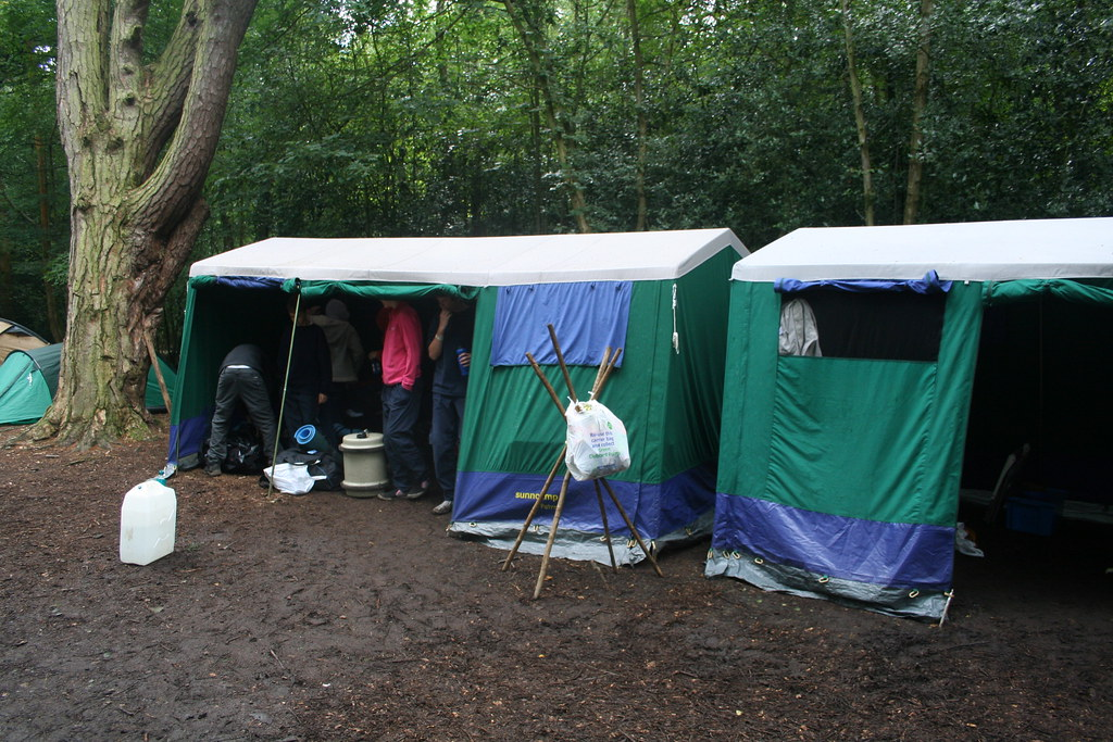 Dining shelter and mess tents | scout camp 2008 - Bentley ...
