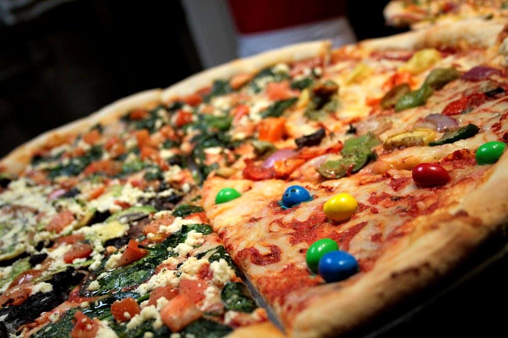 Afbeeldingsresultaat voor pizza with m&ms