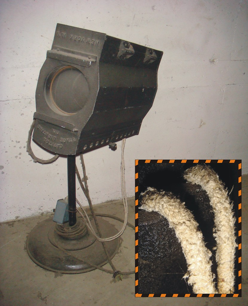 Asbestos Wire Cord Insulation Old Stage Light Apparatus