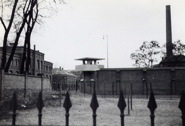 guard tower at spandau prison russian soldiers 3 28 1963 flickr. Black Bedroom Furniture Sets. Home Design Ideas