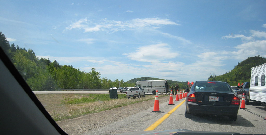 Border Patrol Checkpoint In New Hampshire 1 Taking