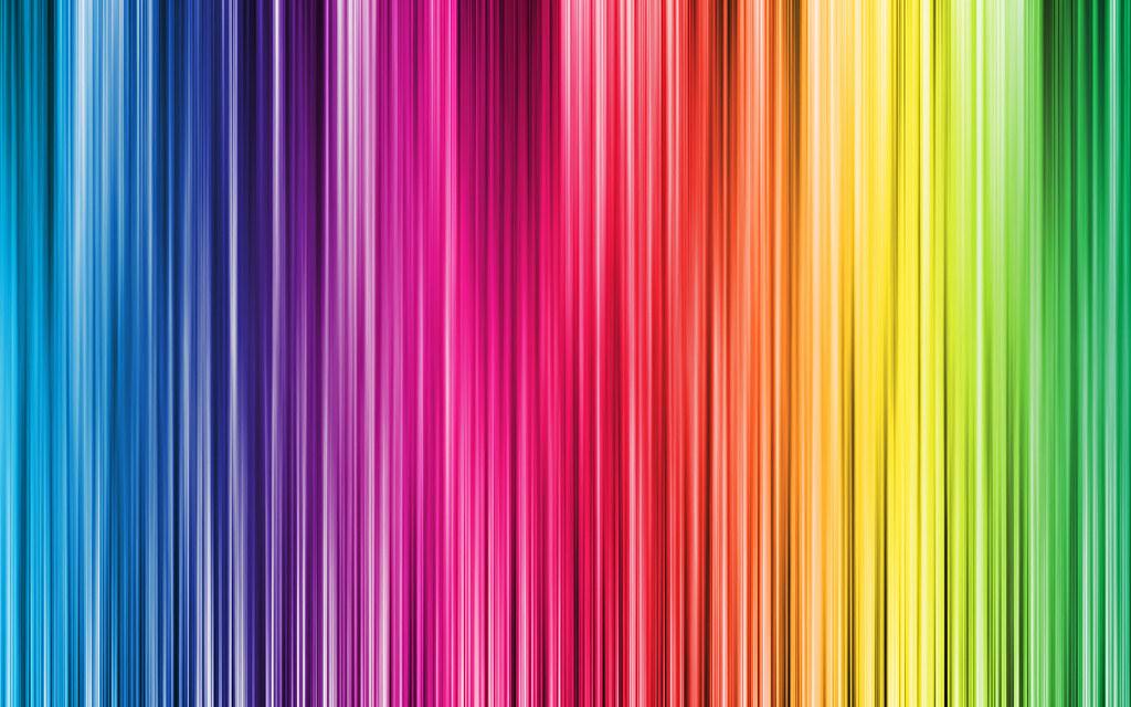 Rainbow Colour Paint Stripe