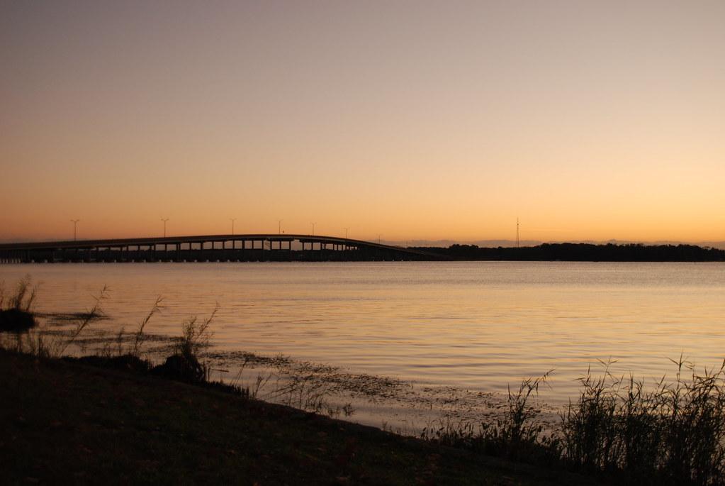 River Sunrise Palatka Memorial Bridge In Palatka Fl