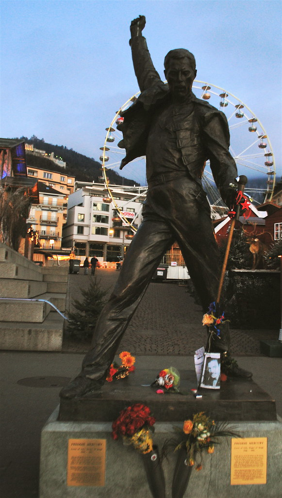 Statue Of Freddie Mercury Montreux Swiss Queen