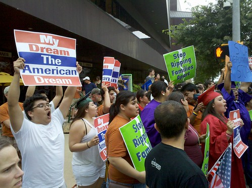 DREAM Act Protesters for President Obama's Visit to Austin | by Todd Dwyer
