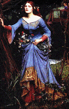 Ophelia by John Waterhouse | Oil painting of Ophelia by ...  Ophelia by John...