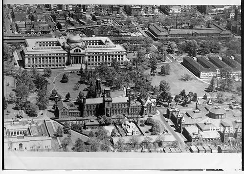 Aerial View of Smithsonian Institution Building and Natural History Building | by Smithsonian Institution