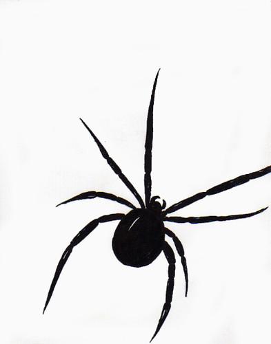 Técnicas de Dibujo: araña pintada con tinta   laurita_mza ...