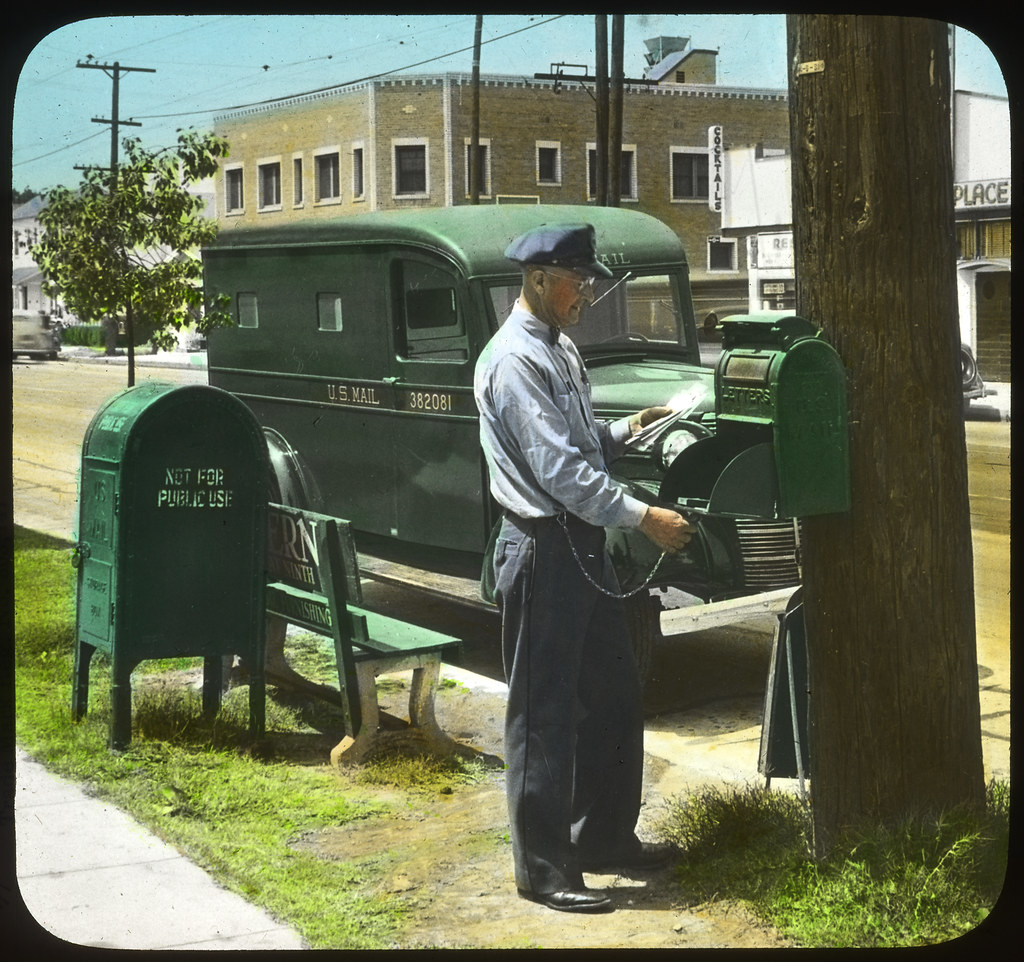 Letter Carrier Collecting Mail