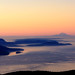 The San Juan Islands at Sunrise with Mt. Rainier in the Distance