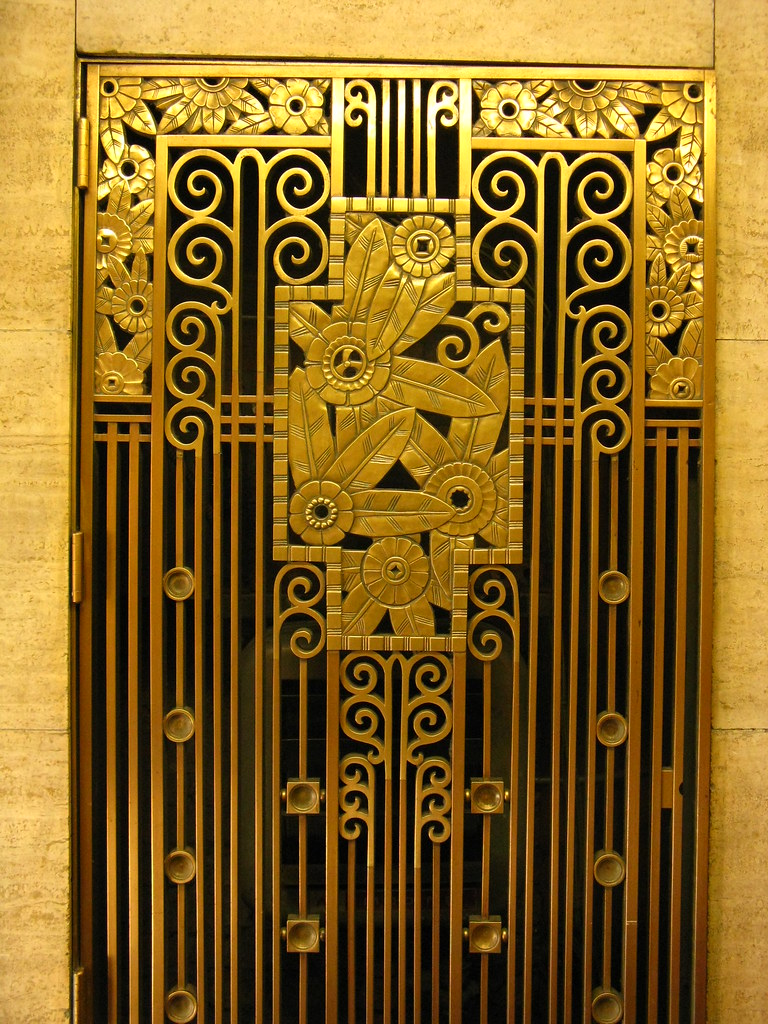Art Deco Grill Architectural Detail From Downtown