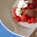 chocolate shortcake with strawberries