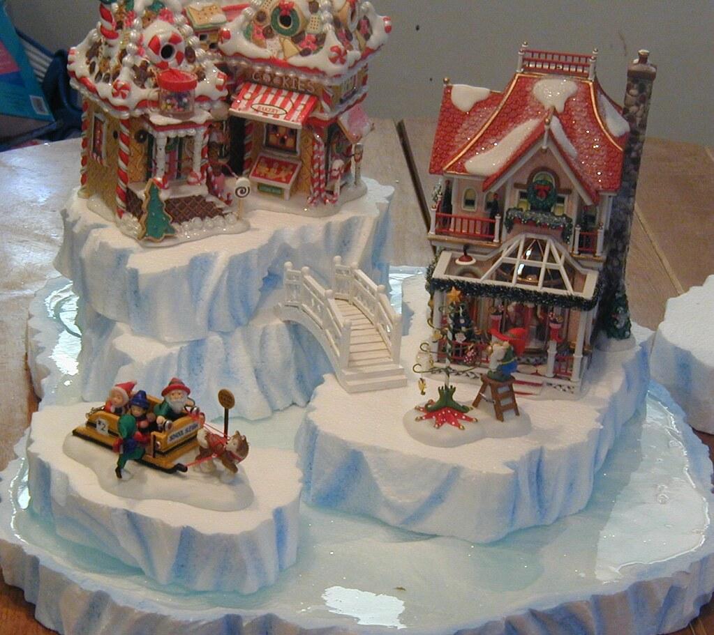 Christmas Village Decorations Ideas: North Pole Iceberg Display Set