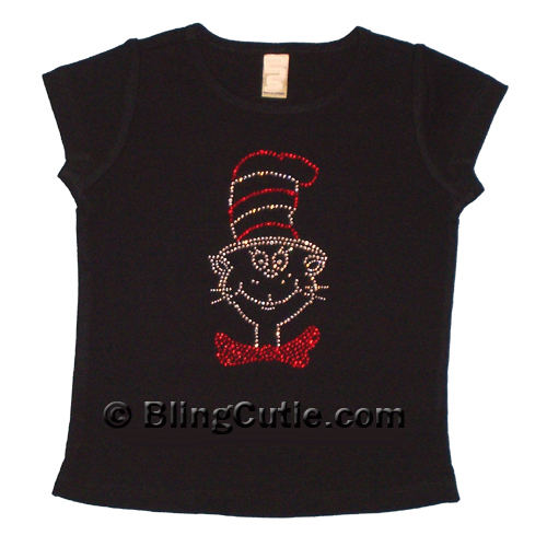 The Cat In The Hat Rhinestone Shirt Custom Bling Tee 39 S