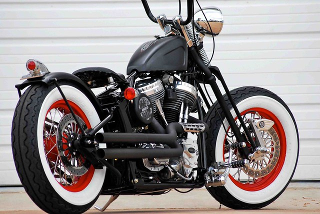 Old skool bobber with apes the old school look is alive - Old school harley davidson wallpaper ...