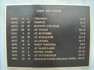 Penn State's 1989 Football Schedule | by jimmywayne