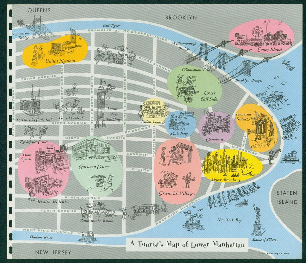 Tourist39s Map of Lower Manhattan Bought
