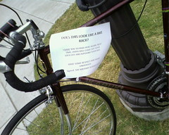 Angry sign on bicycle | by dustout