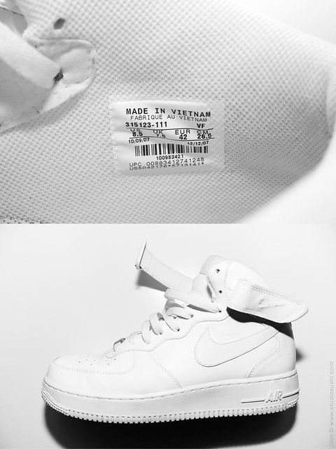 are nike air force ones made in vietnam products