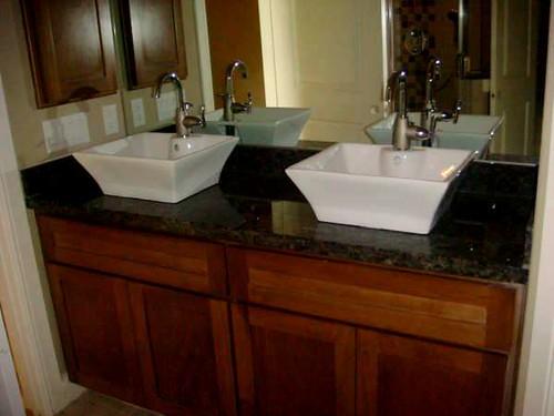 Tan Brown Granite Bathroom Vanity Granite Countertops G Flickr