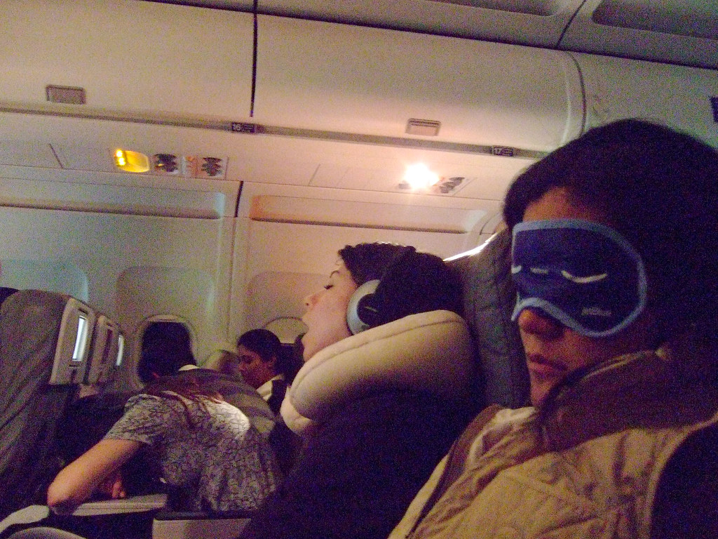 3 airplane sleeping techniques