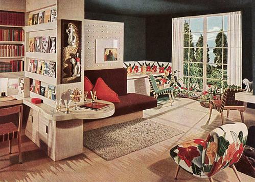 1945 mid century modern living room 1945 living room for Modern vintage living room