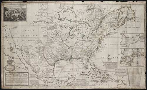 A new map of the north parts of America claimed by France under ye names of Louisiana[...] | by Norman B. Leventhal Map Center at the BPL