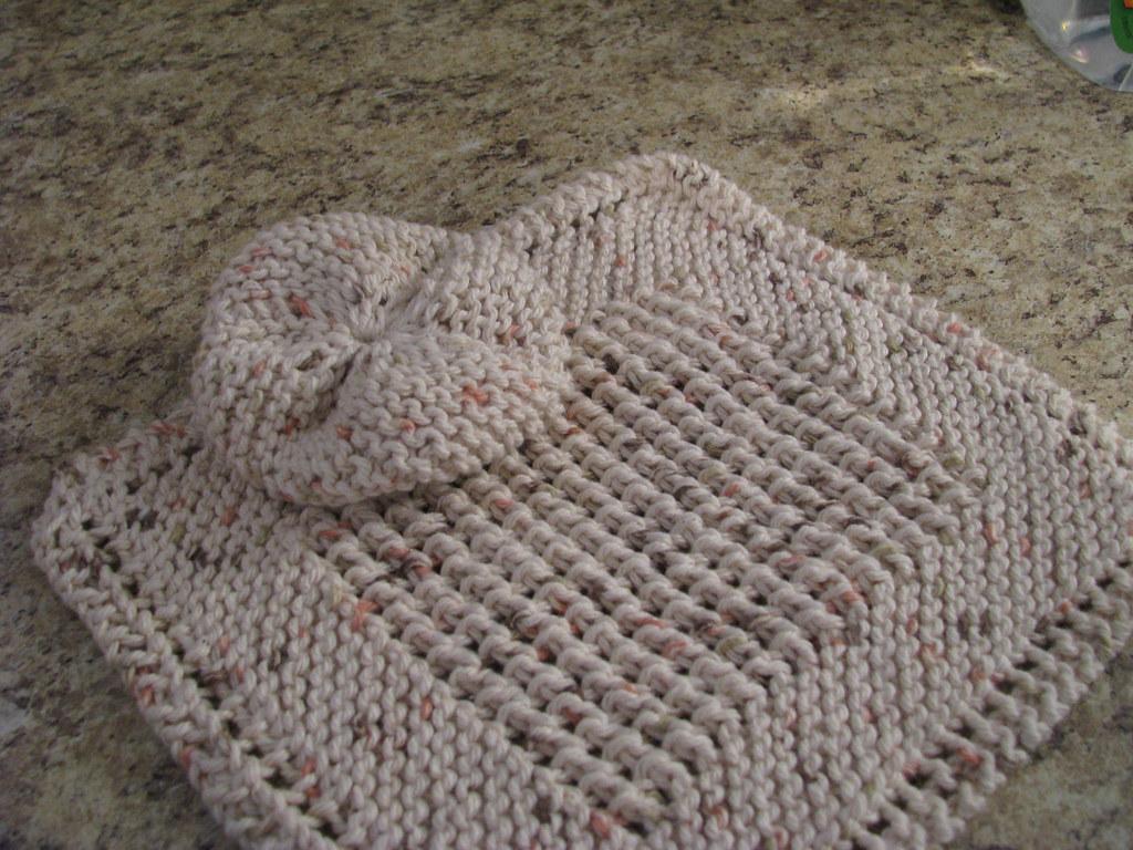 Diagonal Knit Dishcloth with a Twist Diagonal Knit Dishclo? Flickr