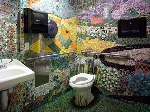 Secret Garden Mosaic Bathroom If One Looks Between The Glo Flickr