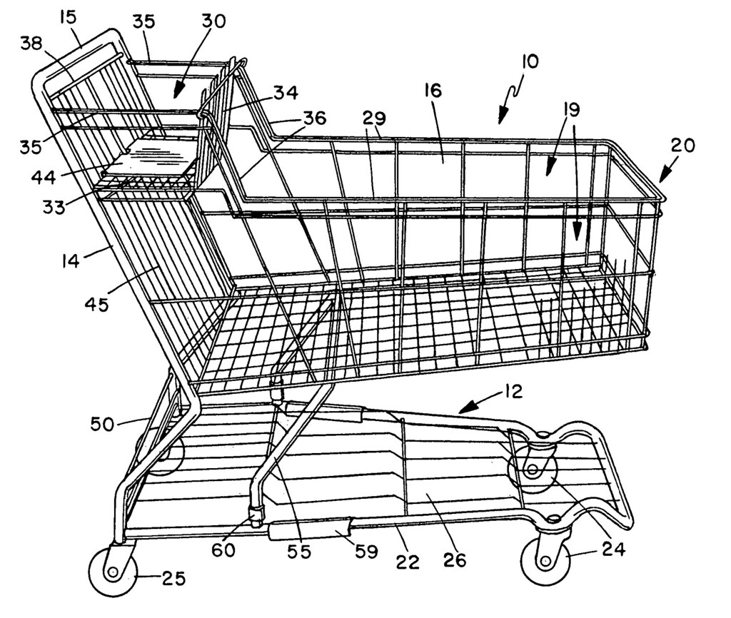 It is a photo of Impertinent Shopping Cart Drawing
