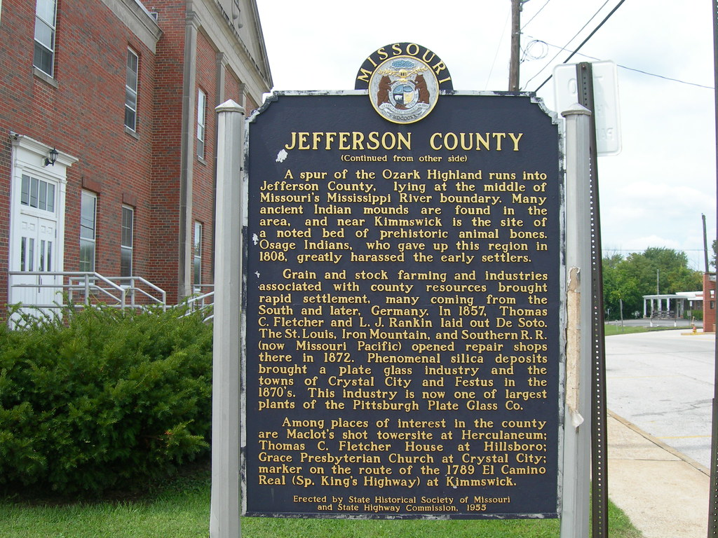 Jefferson County Historic Marker On The Courthouse