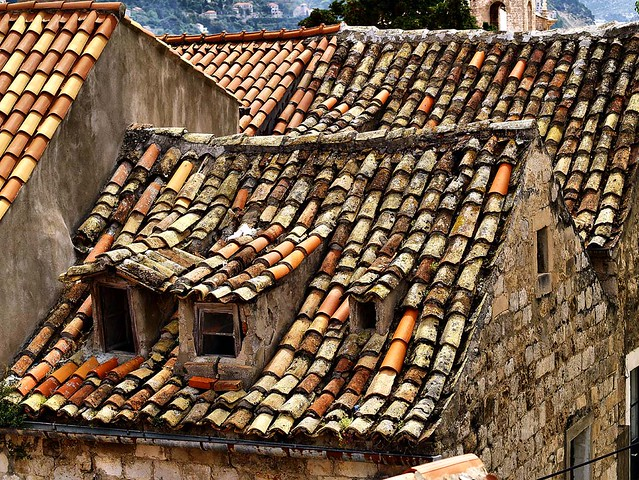 An Old Roof In Dubrovnik This Is One Of The Few
