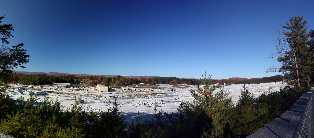 Mount Airy Granite Quarry Panorama | Another one of the