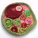 CROCHET BROOCH WITH SEED BEADS AND BUTTONS - FIRST ATTEMPT!!!!!