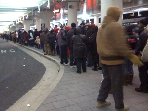 In line for the B30 to the metro | by selena marie