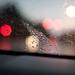 Rainy Night Car Windshield