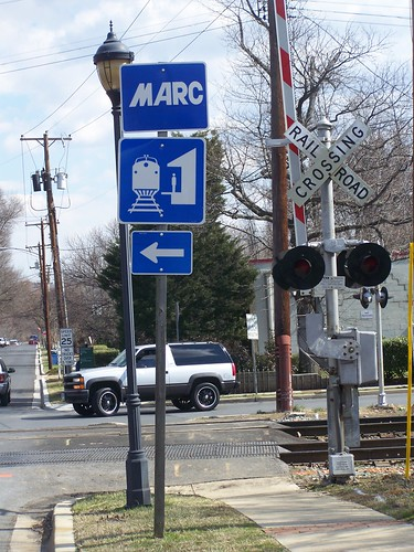 MARC railroad sign, Riverdale