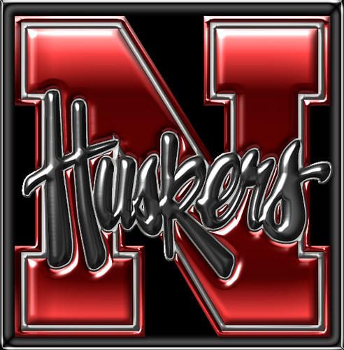 nebraska football coloring pages - huskers logo black 01 scott flickr