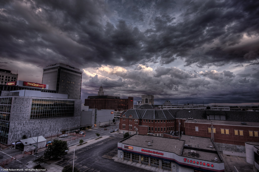 Downtown Lincoln Nebraska June 19th 2008 Hdr Flickr